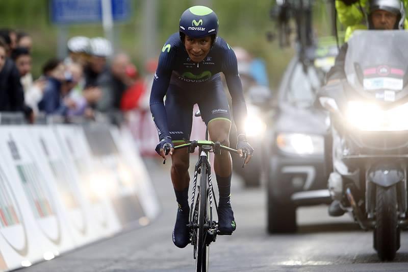Quintana a tegnapi kronón - Forrás: Facebook (Movistar Team)