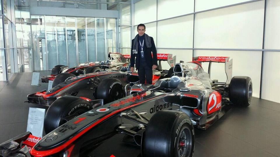 Alberto Contador a McLaren központban