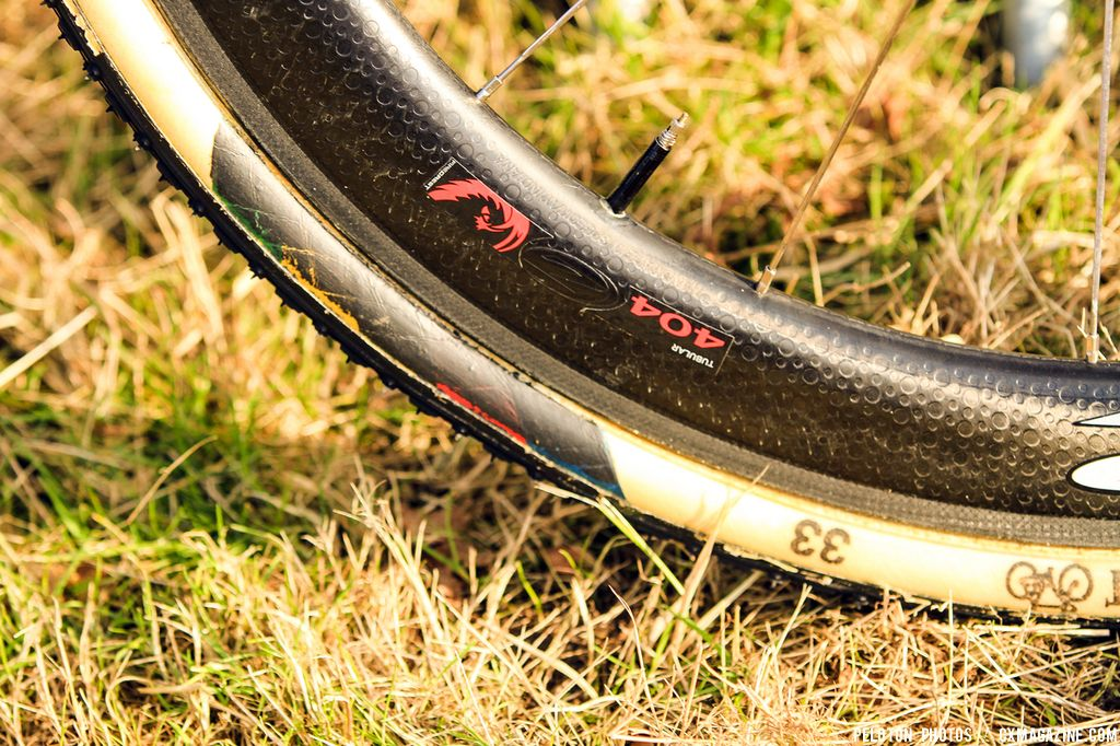 Stybar is opting for the deeper profile of a Zipp 404 tubular wh