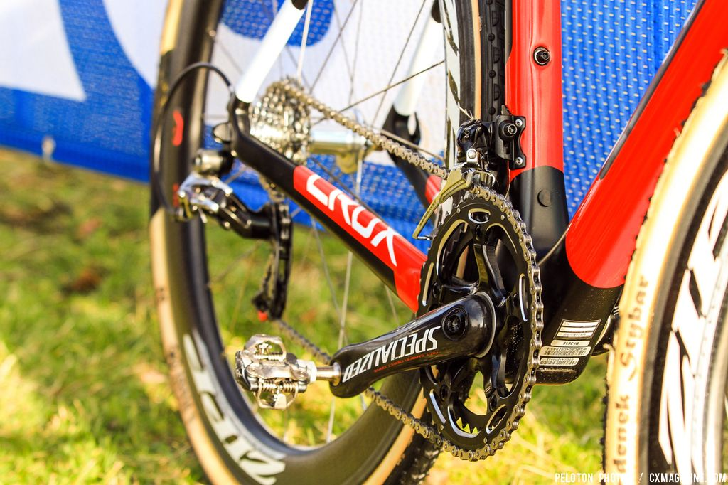 Specialized's carbon crankset on their OSBB bottom bracket, and