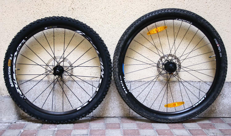 """A 26""""-os kerék 2,4-es gumija ellenére is jóval kisebb, mint a 29""""-os 2,1-es gumival"""