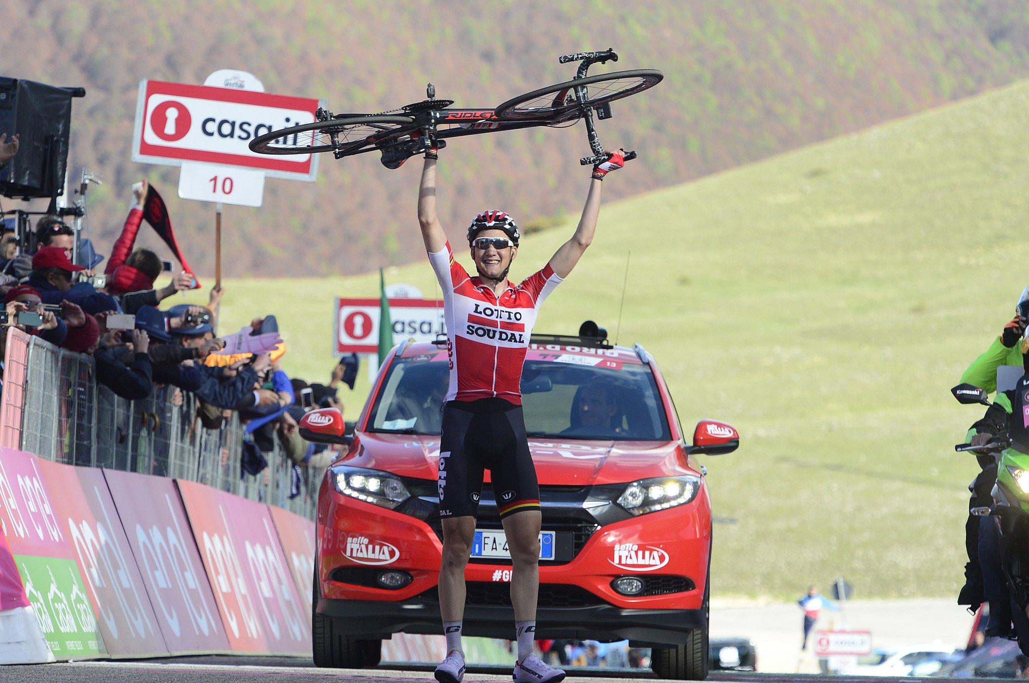 12-05-2016 Giro D'italia; Tappa 06 Ponte - Roccaraso; 2016, Lotto Soudal; Wellens, Tim; Roccaraso;