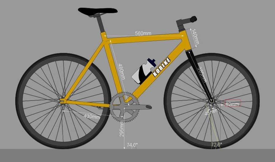 A BikeCAD-es terv egyszerűsített képe