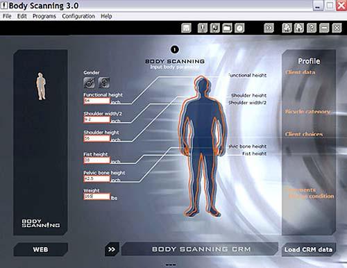 Mérés után a bevitt adathalmazból testméreteket generál a rendszer