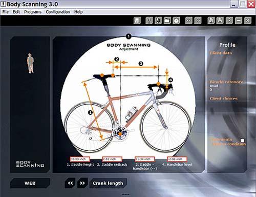 Ezt a négy kerékpár beállítási paramétert számolja a rendszer