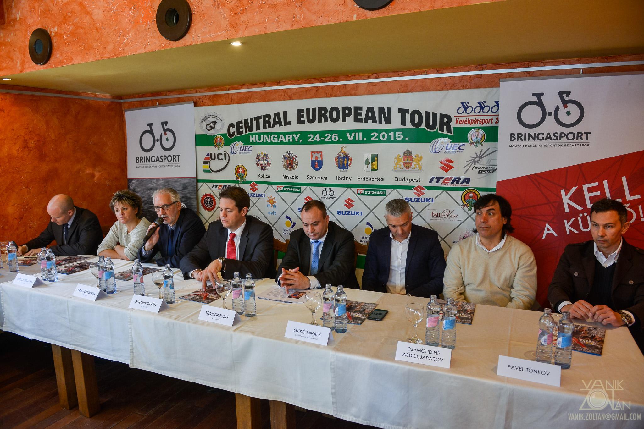 Central European Tour sajtótájékoztató az UCI-elnök, Brian Cookson látogatása kapcsán áprilisban (Fotó: Vanik Zoltán)