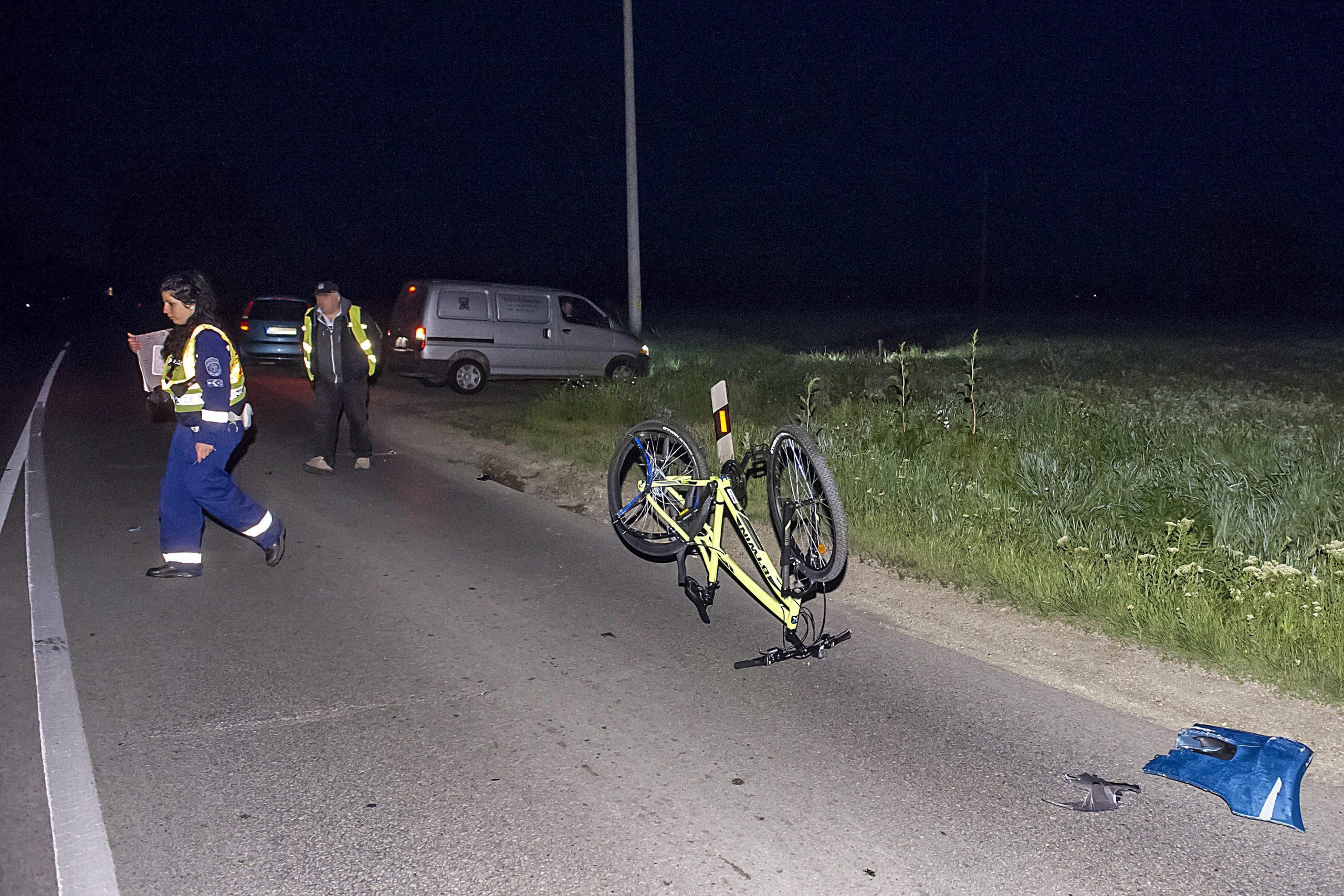 kerékpár baleset