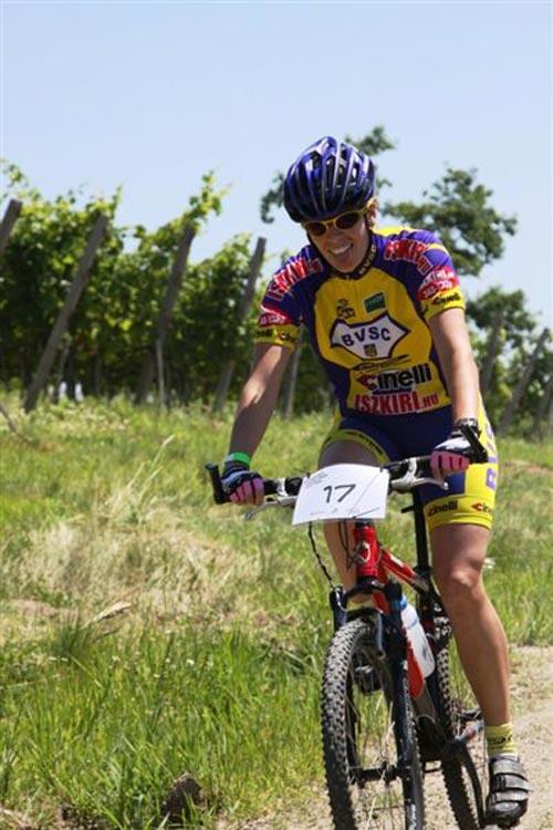 Az egykörös futam női győztese, Pignitzky Ágota