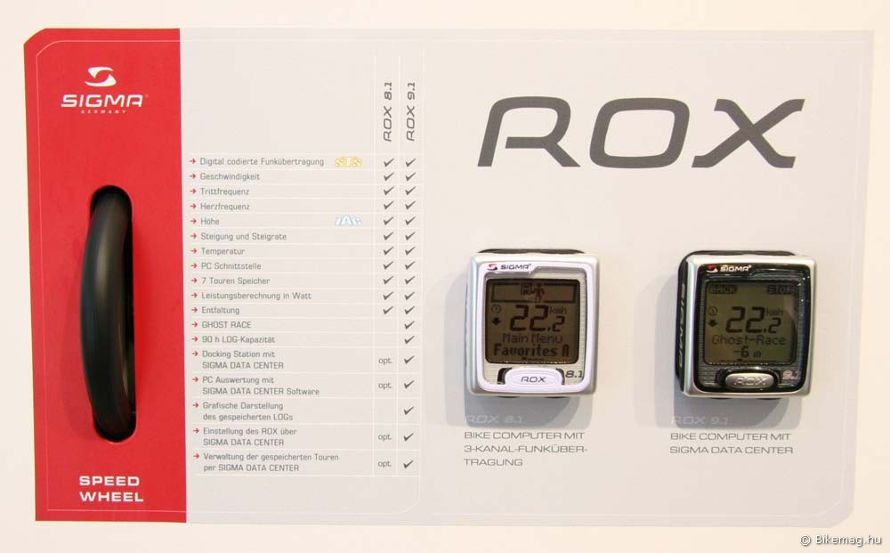 Eurobike 2011: Sigma ROX 8.1 és 9.1