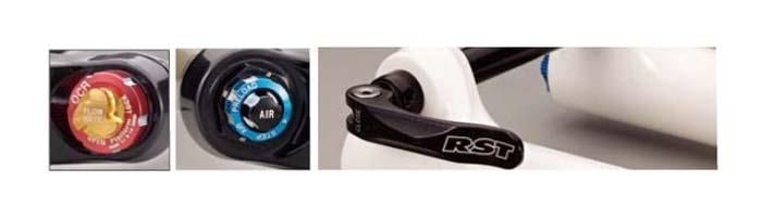 Eurobike 2011: Az új OCR Platform és a 4 Step Air Chamber állítógombjai, valamint a 15-ös átütőtengely a F1RST 32-15 villán