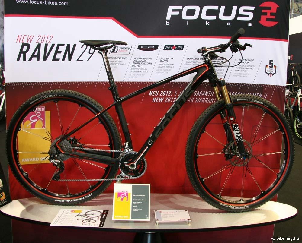 Eurobike 2011: A 8,6 kilós Focus Raven 29 1.0, mely Eurobike Design Award díjas is volt