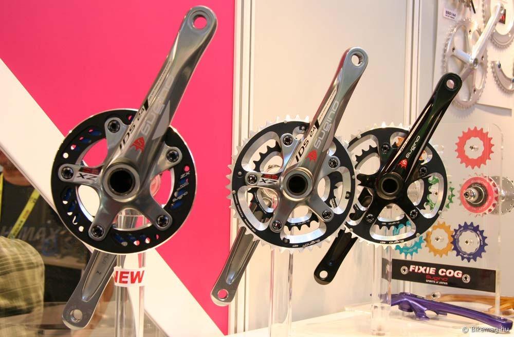 Eurobike 2011: Egy régi-új játékos a monti hajtóművek piacán: a japán Sugino 110-74 mm-es furatkörű karja