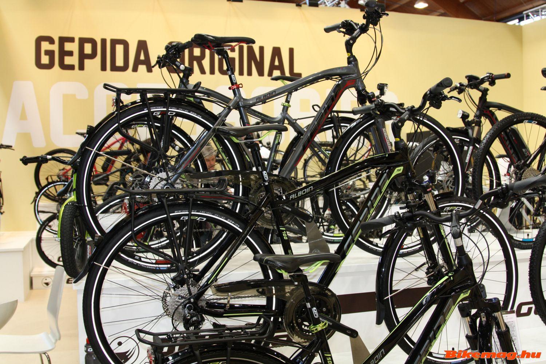 A Gepida trekkingkerékpárok kínálata az Eurobike-on...