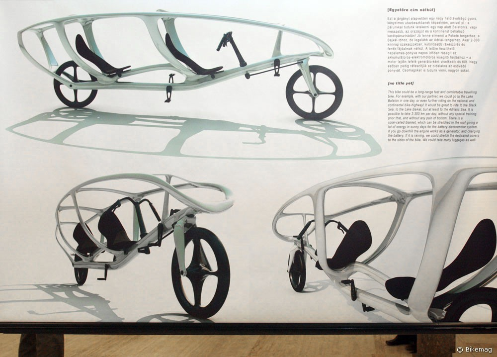 Rendhagyó kerékpárterveket is láthat a közönség, Kápolnás Gergely fantáziáját például kizárólag a rekumbensek mozgatják