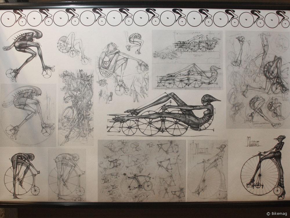 A kerékpár és a képzőművészet sajátos találkozása figyelhető meg Üveges Péter formatervező grafikáin