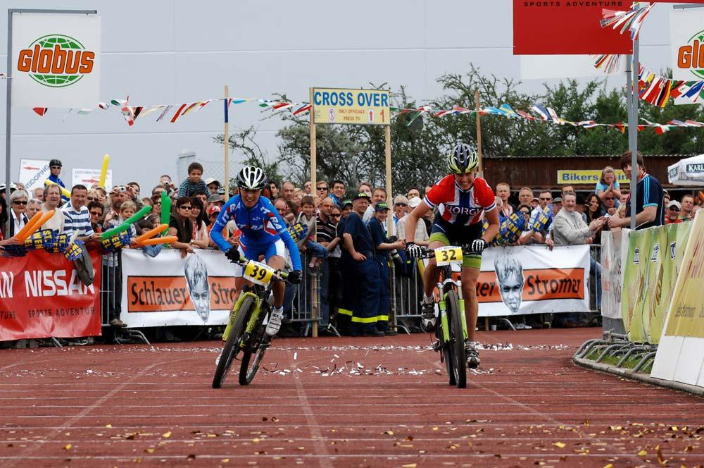 Sprintbefutó az Európa-bajnoki ezüstért Irina Kelantievával – 2008, St. Wendel, Németország
