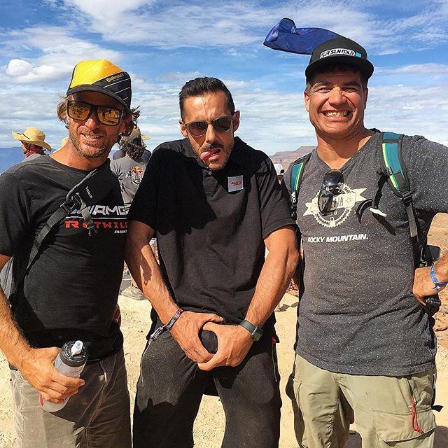 A három idióta: Richie Schley-Cedric Gracia és Brett Tippie. Mindhárman legendák, de már csak nézőként vesznek részt a Rampage-en.
