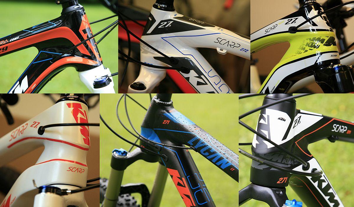 A KTM mountain bike-okkal kapcsolatban még nem beszéltünk a színekről: az uralkodó narancssárgához képest bővül a választék jövőre...