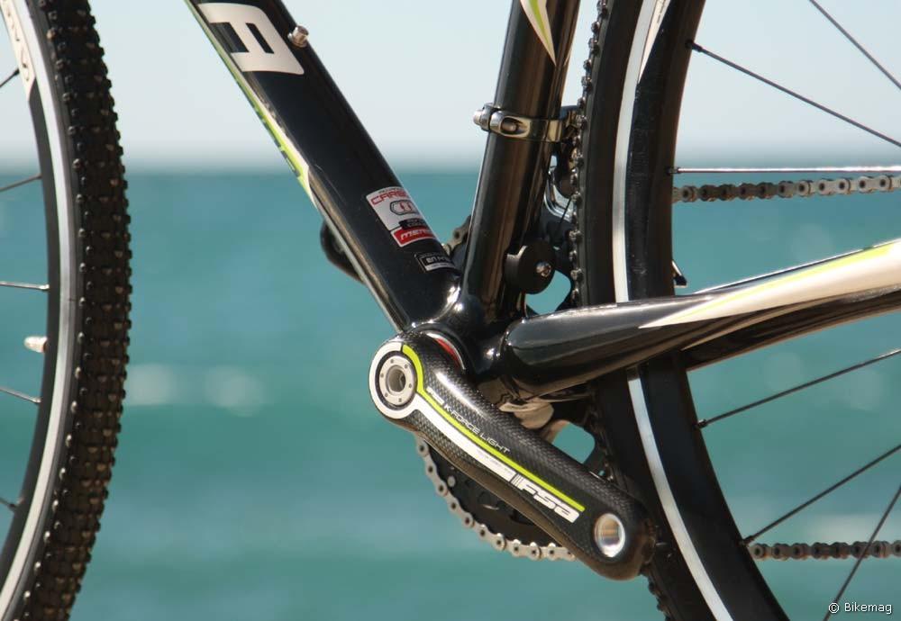 Cyclo Cross Carbon Team 2011 – Team-zöld csíkozású hajtókar, Flex-Stay láncvilla
