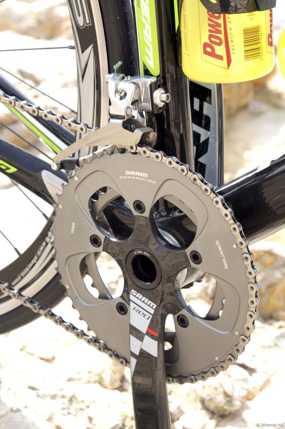 Merida Reacto Team 2012 kerékpárteszt: SRAM Red mindenhol
