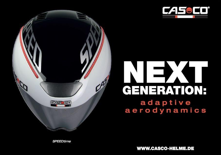 A Casco Speed Time az időfutam bukók új generációját képviseli, ami bármilyen fejtartásban aerodinamikus