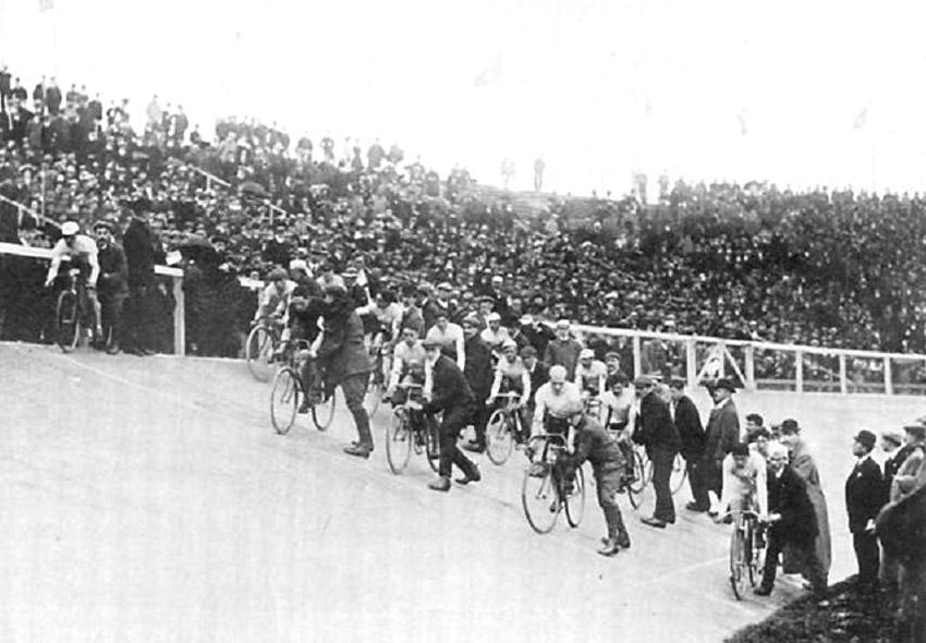 Pályaverseny rajtja az 1908-as olimpián