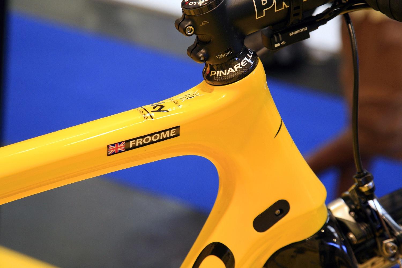 Igen, ezt a kerékpárt is a Tour-győztese használta