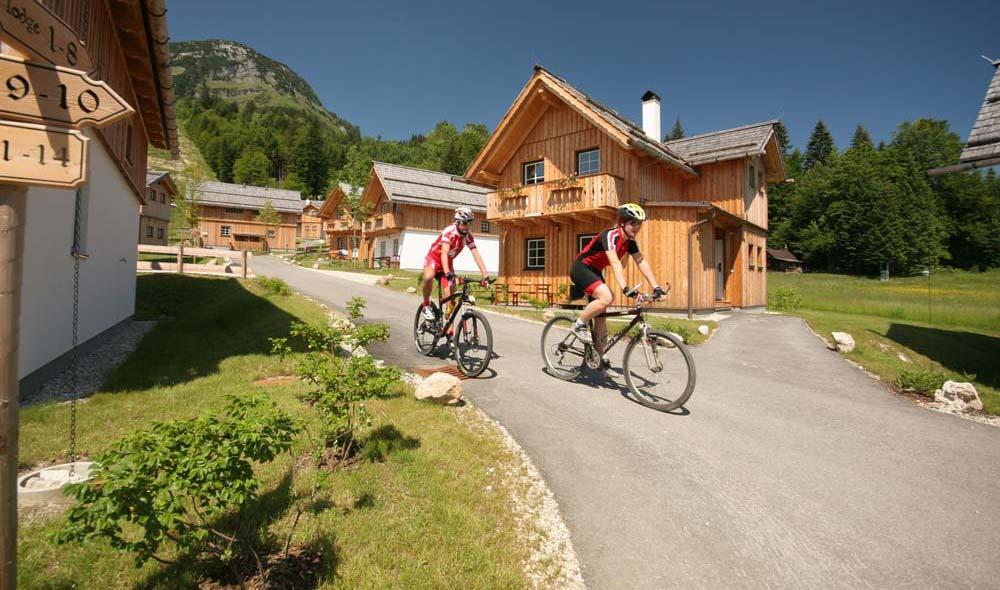 A kerékpárosokra szabott apartman park, Hagan Lodge-Altaussee-ban
