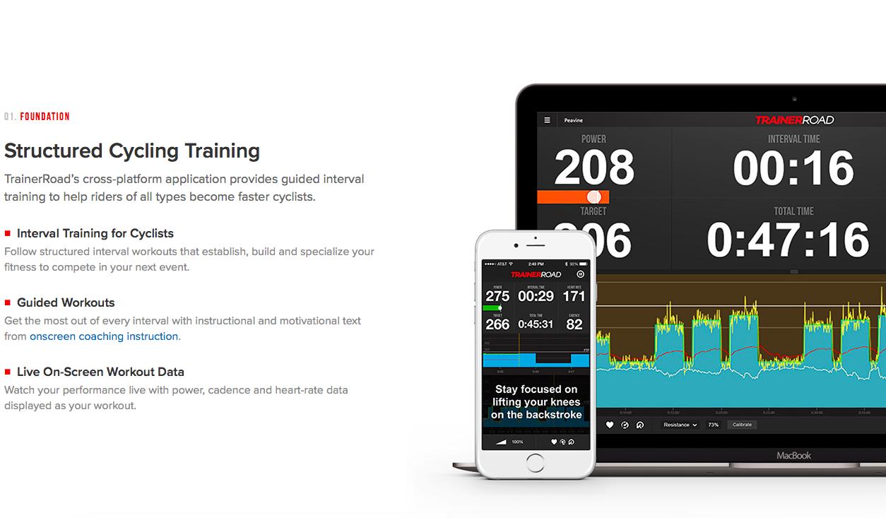 A TrainerRoad nagyon profi edzéstámogató szoftver