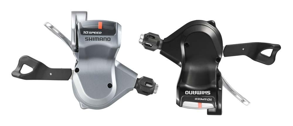 """Shimano 2011-2012: országúti egyenes kormányos rendszerekhez (fitneszbringák) készül a SL-780 """"2-Way release"""" rendszerű váltókar – ezúttal is ezüst- és fekete színben egyaránt"""