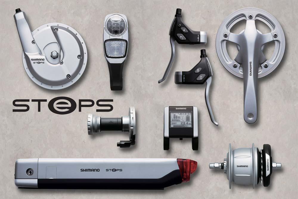 A komplett Shimano STEPS e-bike alkatrészcsalád
