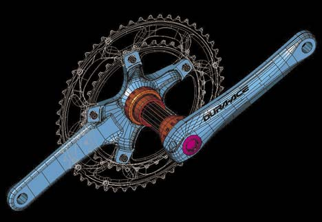 A Hollowtech II integrált tengelyes megoldásnak csak egyetlen jelentős hátránya van: a tengelyvégek közelebb kerültek a bokához, és sok kerékpáros rendre amortizálja a kar felületkezelését
