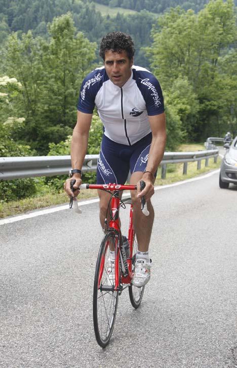 Miguel Indurain a Campagnolo Super Record szett sajtóbemutatóján