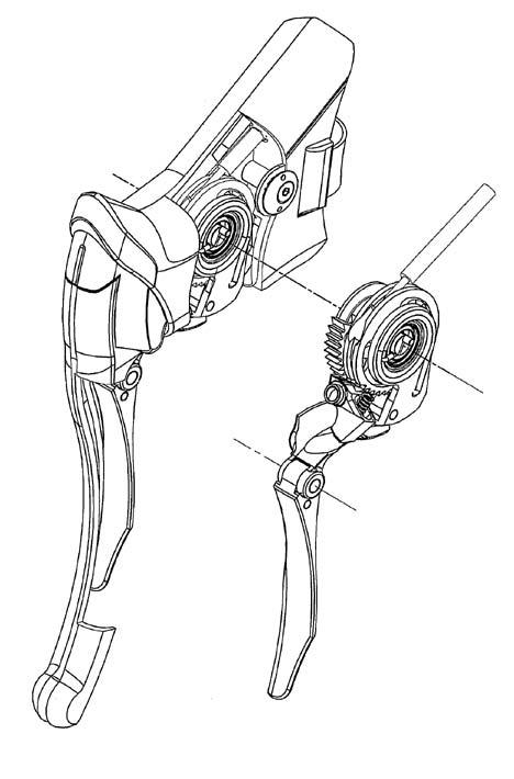 Az FSA 11 fokozatú fékváltókarjának rajza futurisztikus megjelenést ígér