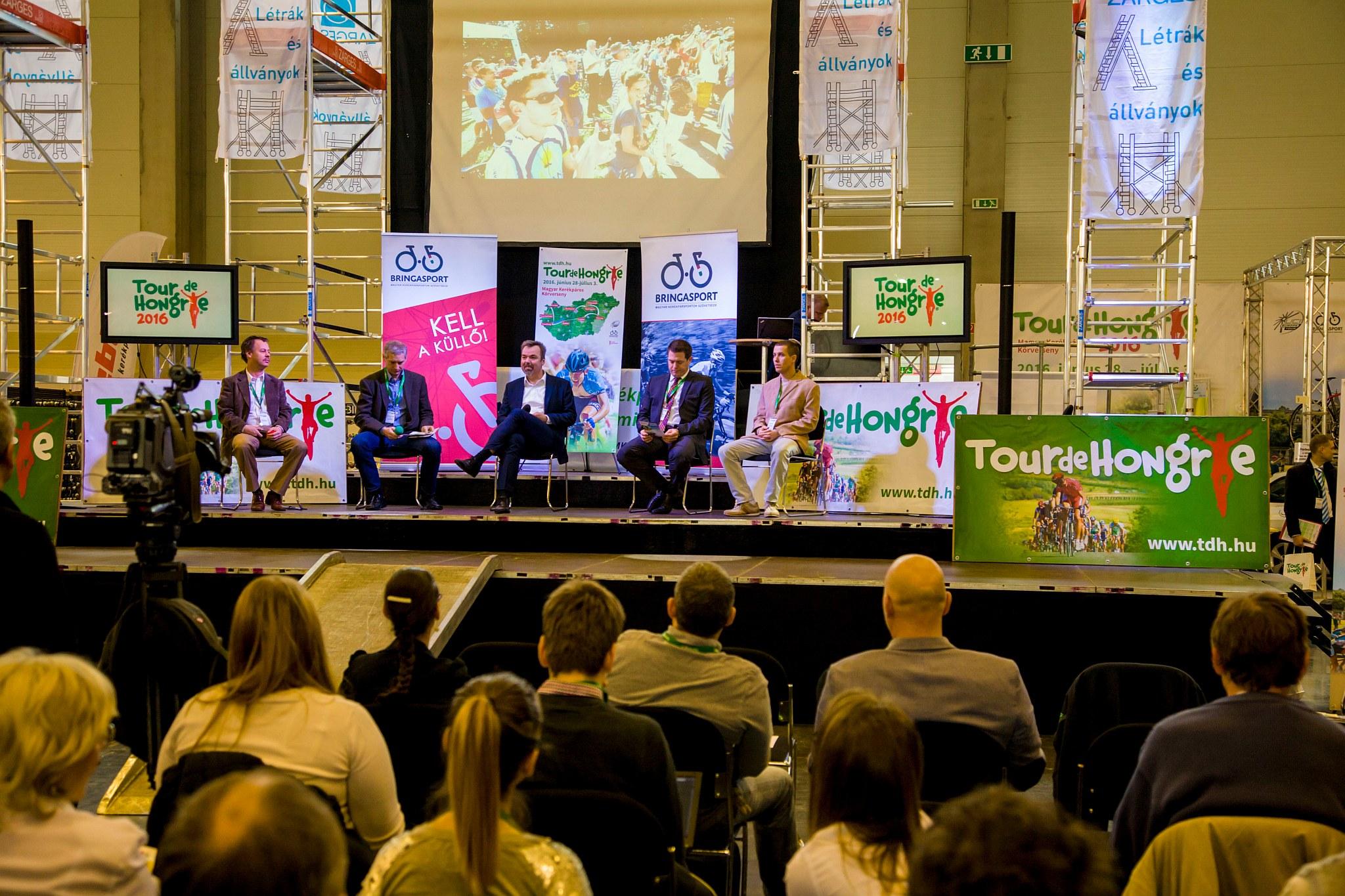 Tour de Hongrie sajtótájékoztató a Bringaexpón