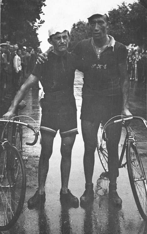 Pásztor Istvánnal egy győri kritériumverseny befutója után