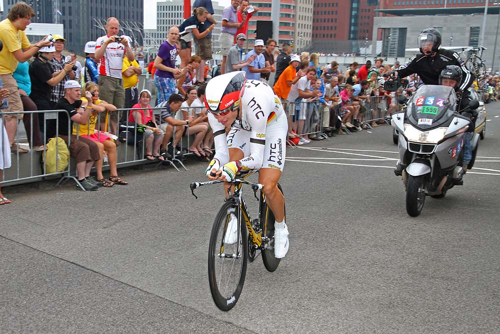 "2. Tony Martin (Team HTC – Columbia) 10'10"" (+ 00'10"")"