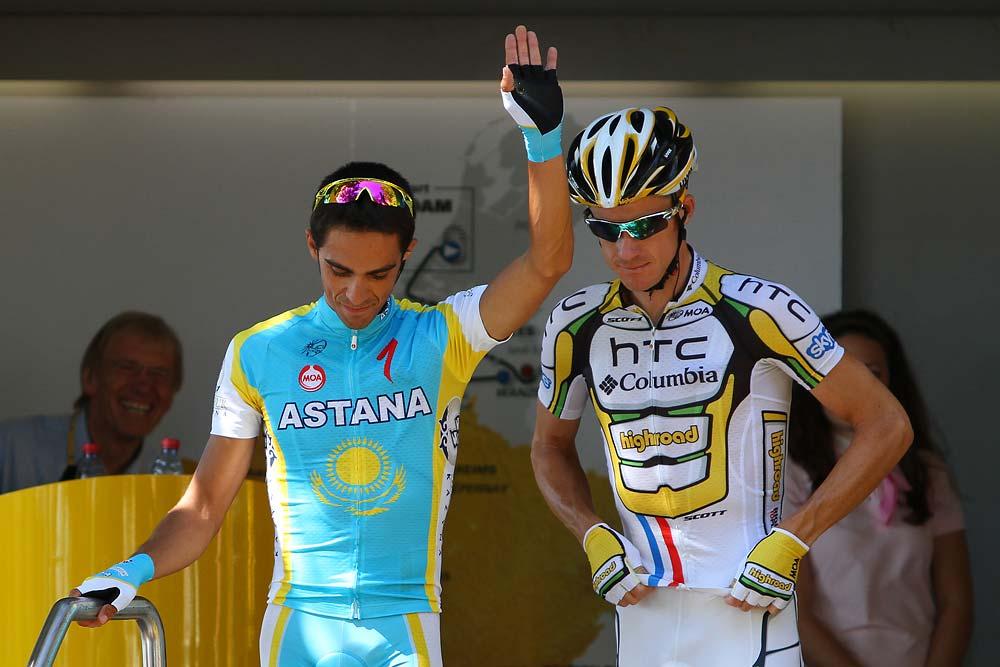 Alberto Contador is otthagyta a névjegyét