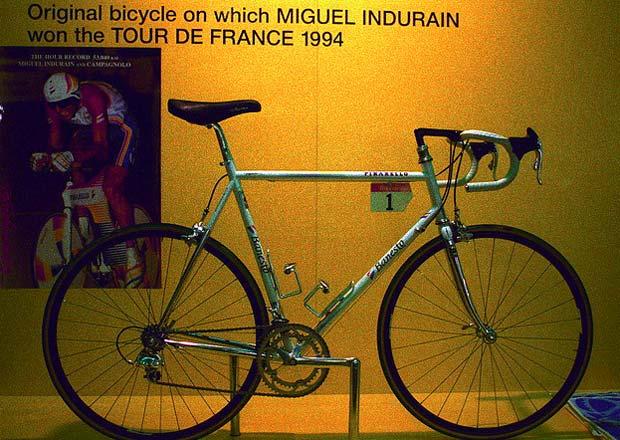 Indurain Tour győztes kerékpárja