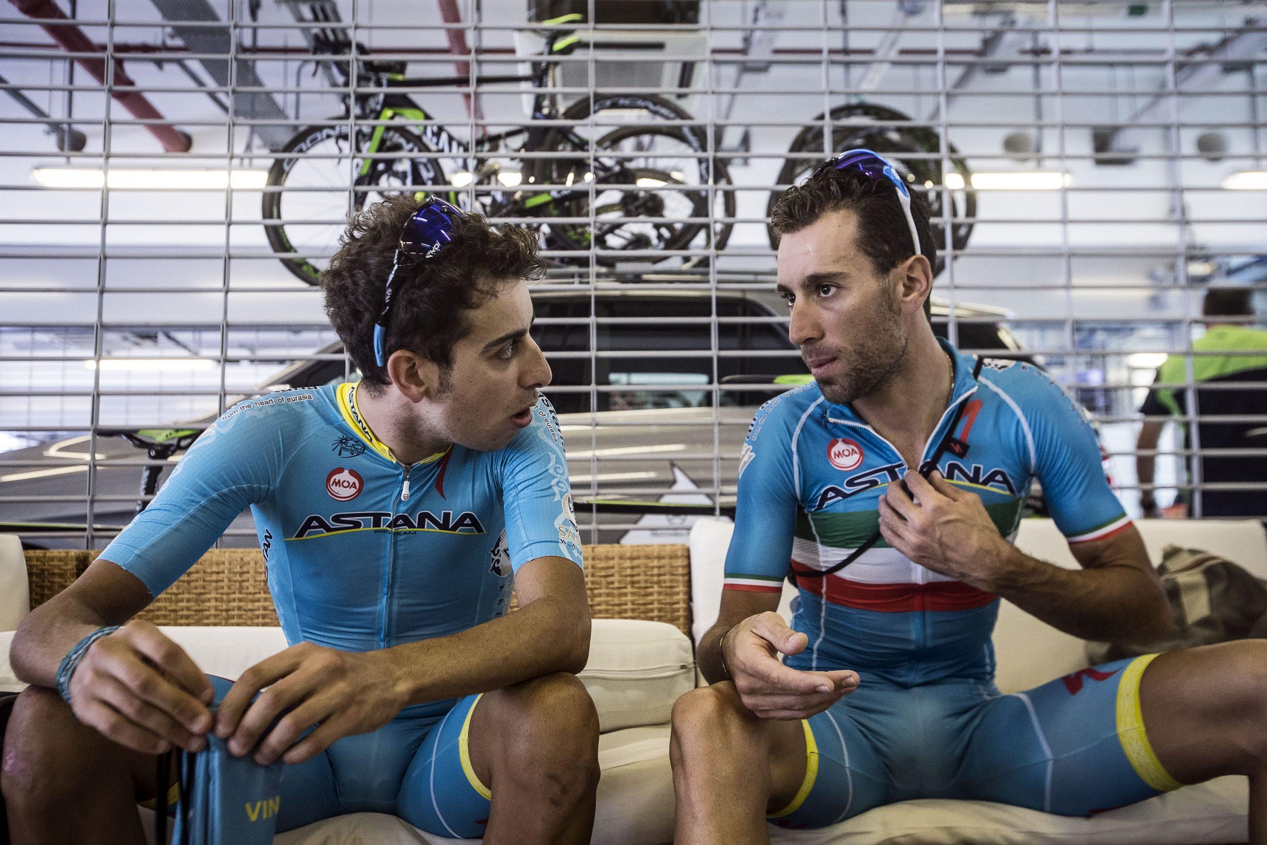 Nibali és Aru fő esélyesnek számítottak a hegyi etapon (Fotó: Angelo Carconi)