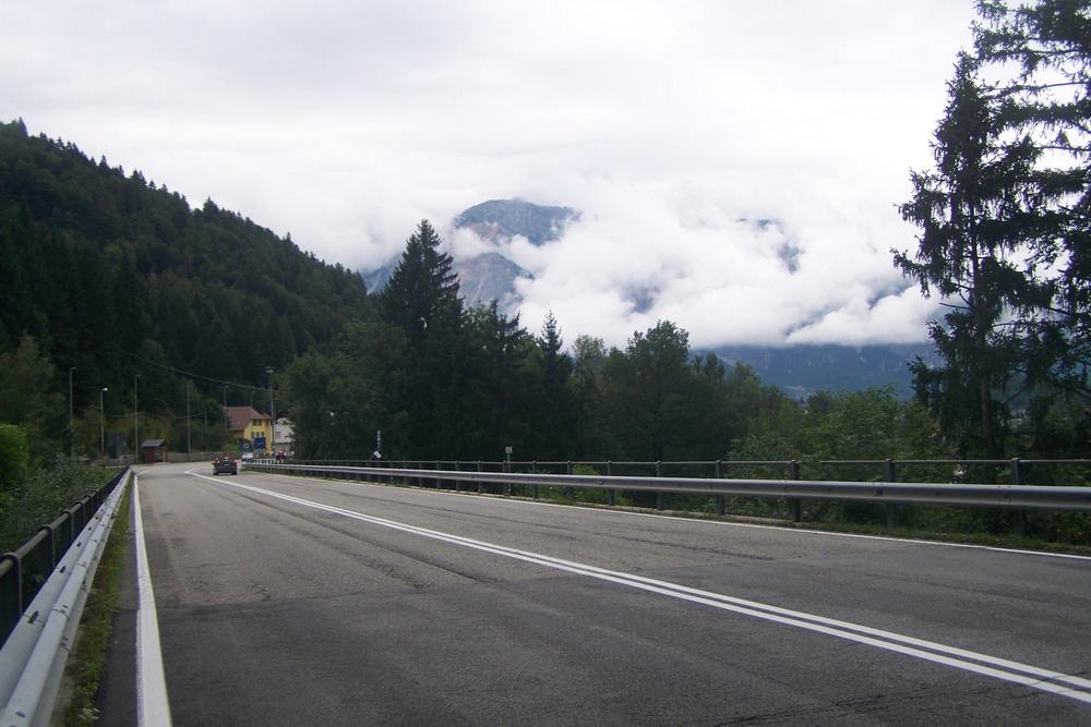 Az olasz határról visszapillantva Ausztria irányába