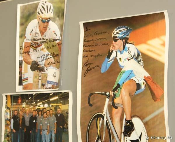 Hálás szponzoráltak: az athéni olimpiai bajnok Absalon és a többszörös pontverseny világbajnok Vera Carrara