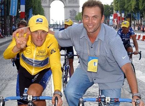 Armstronggal a 4. Tour-győzelem után...