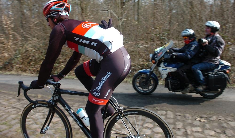 Cancellara a mai edzésen (Fotó: Stefano Sirotti)