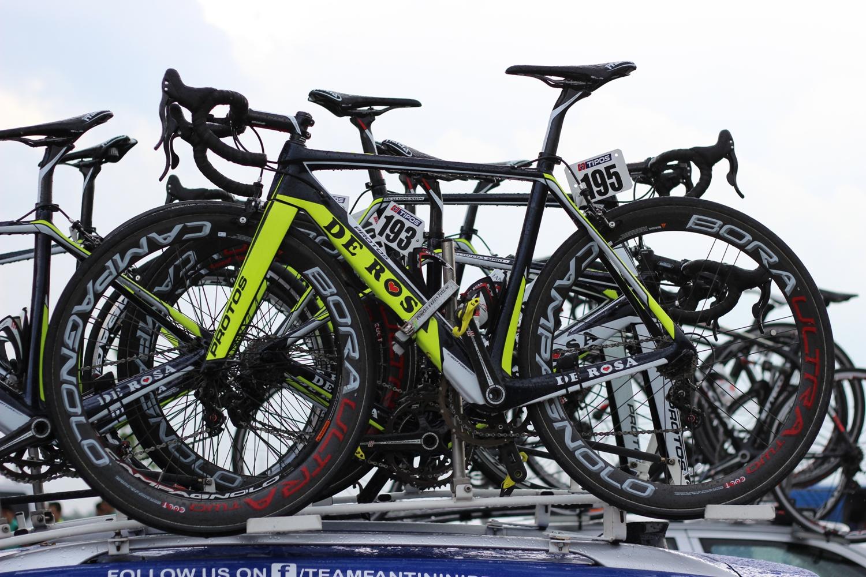 A verseny egyik legszebb bringája, természetesen olasz...