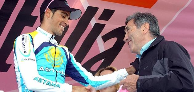 Contador és Merckx (Fotó: Marca - Sportfotodienst)