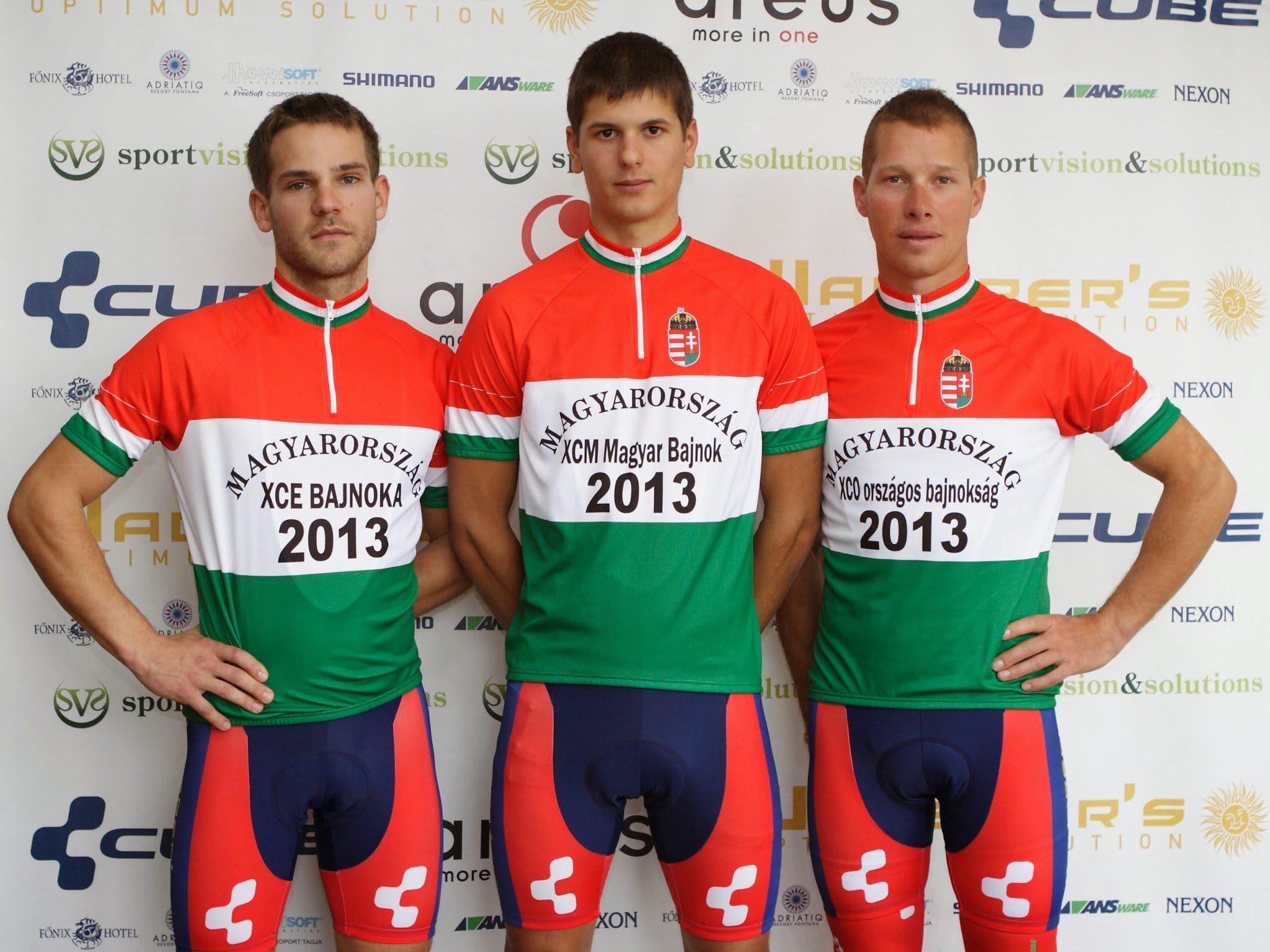 A Waberer's csapat bajnokai: Csielka, Juhász, Parti