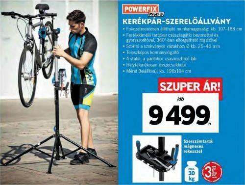 Immár kerékpárfelszerelés is kapható a Lidl-ben!