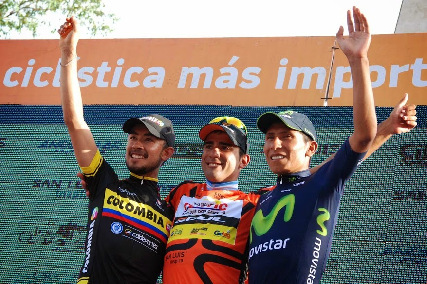 Torres a kolumbiai profi csapatban, Díaz brazil kontinentális csapatban, Quintana európai WorldTour-gárdában