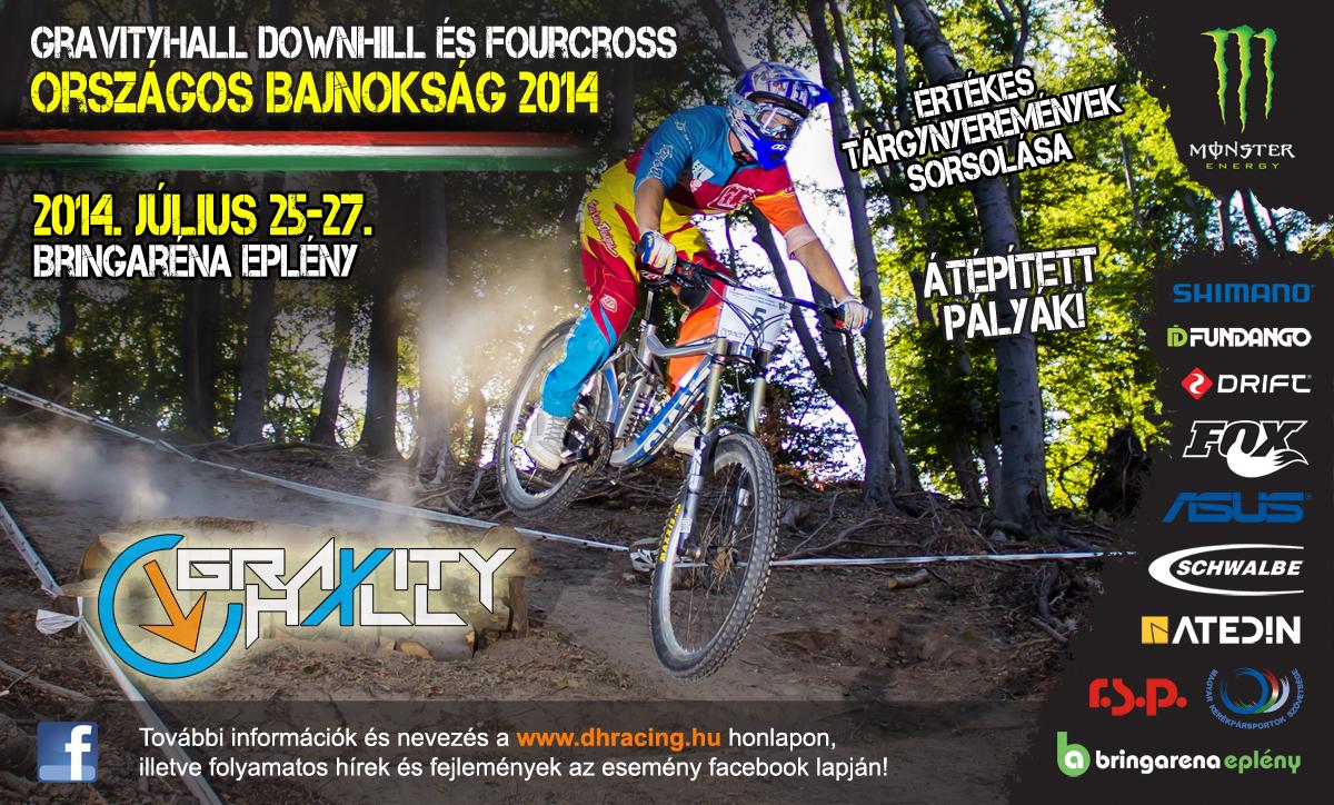 GravityHall Downhill és Fourcross Országos Bajnokság 2014